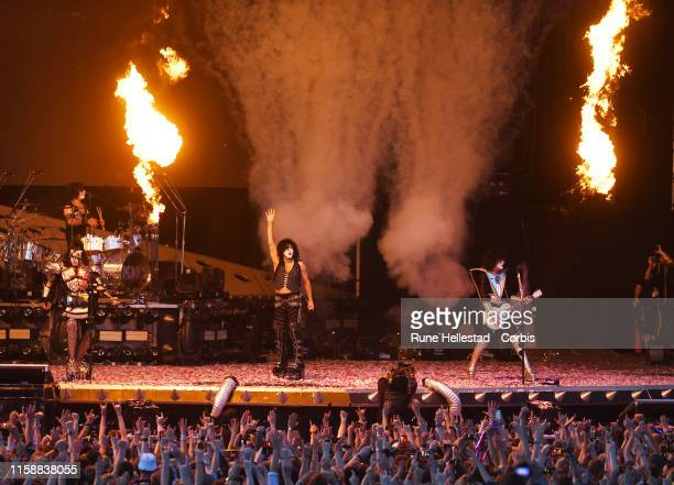 Kiss perform at Tons Of Rock festival at Ekebergsletta on June 27 2019 in Oslo Norway