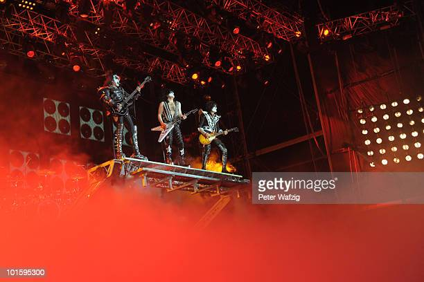 Kiss perform during the first day of Rock am Ring on June 03 2010 in Nuerburg Germany
