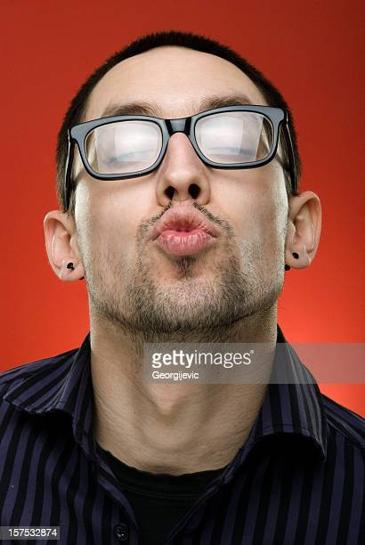 kiss - ugly lips stock photos and pictures