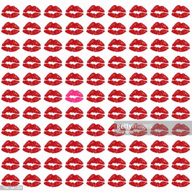 kiss prints, lipstick, lipstick kiss, kiss mark, kiss marks, lips, red lipstick, standing out from a crowd, individuality - キスマーク ストックフォトと画像