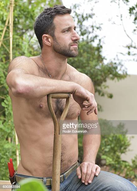 Kiss the Ground garden manager Matt Finkelstein poses for portratit at The Artists Project on December 21 2016 in Los Angeles California