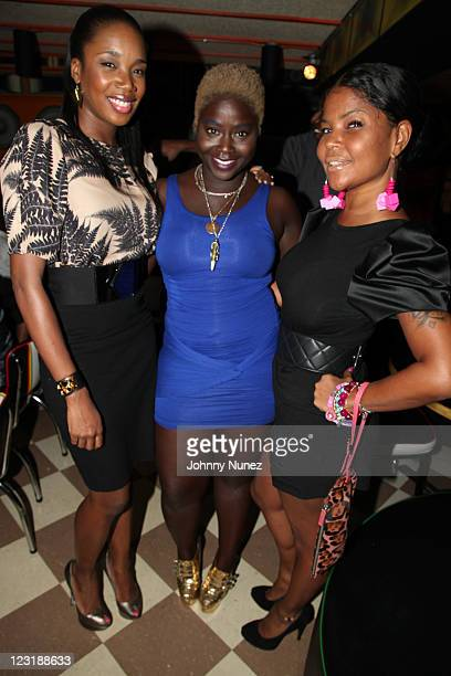 DJ Kiss Zandile Blay and Misa Hilton attend Zandile Blay Jacquiline Cooper's New York Fashion Week kickoff dinner at Miss Lilly's on August 31 2011...