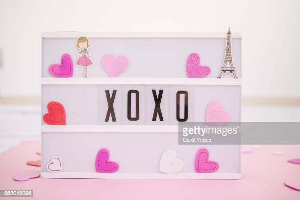 kisses and hugs in a lightbox