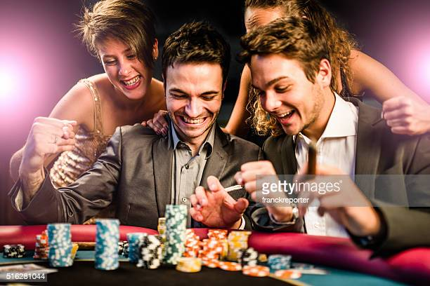 kisses by the luck at poker - casino stock pictures, royalty-free photos & images
