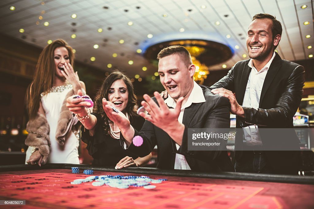 kisses by the luck at poker : Stock Photo
