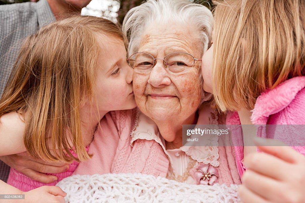 Kisses for Grandma : Stock Photo