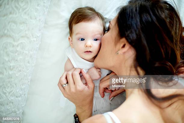 Kisses for Mommy's little cutie