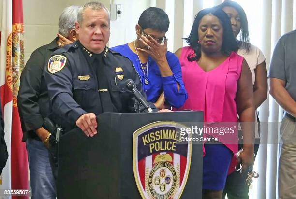 Kissimmee Police Chief Jeff OâDell speaks to the media after two police officers were shot in Kissimmee Fla on Friday Aug 18 2017