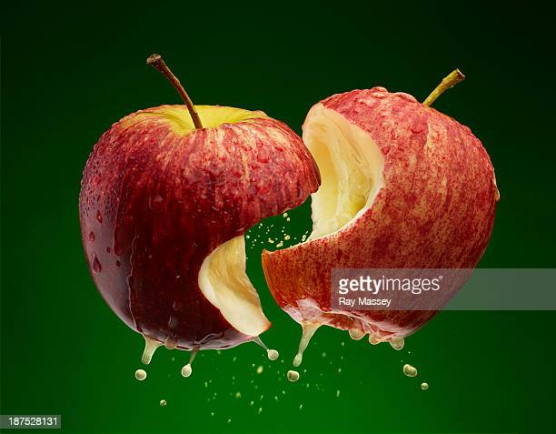 kissing apples - desire stock pictures, royalty-free photos & images