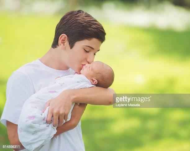 Kissing Baby Sister - Big Brother