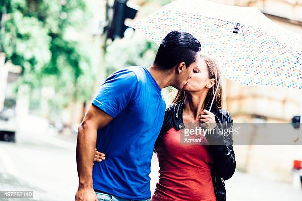 Kissing on a Street