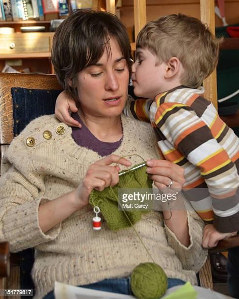 Kissing the knitter