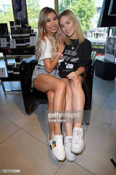 Kisu and Sonny Loops during the Urban Decay Campaign 'Laufen gegen Cybermobbing' on August 16 2018 in Berlin Germany