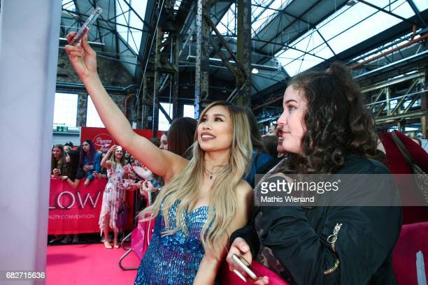 Kisu attends the GLOW The Beauty Convention on May 13 2017 in Duesseldorf Germany