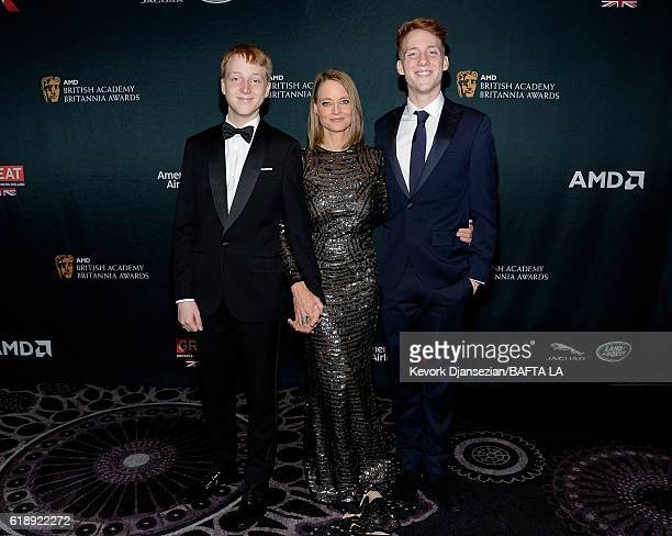 Kit Bernard Foster honoree Jodie Foster and Charles Bernard Foster attend the 2016 AMD British Academy Britannia Awards presented by Jaguar Land...