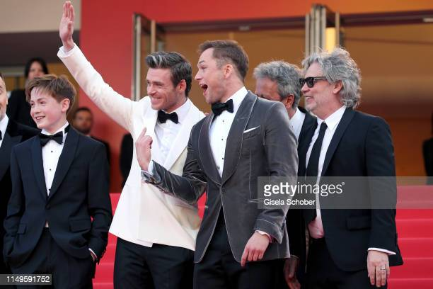 Kit Connor Richard Madden Taron Egerton and Director Dexter Fletcher attends the screening of Rocketman during the 72nd annual Cannes Film Festival...