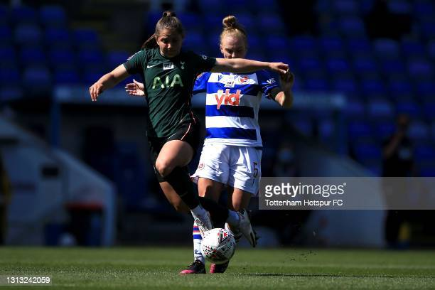 Kit Graham of Tottenham Hotspur and Molly Bartrip of Reading during the Vitality Women's FA Cup Fourth Round match between Reading Women and...