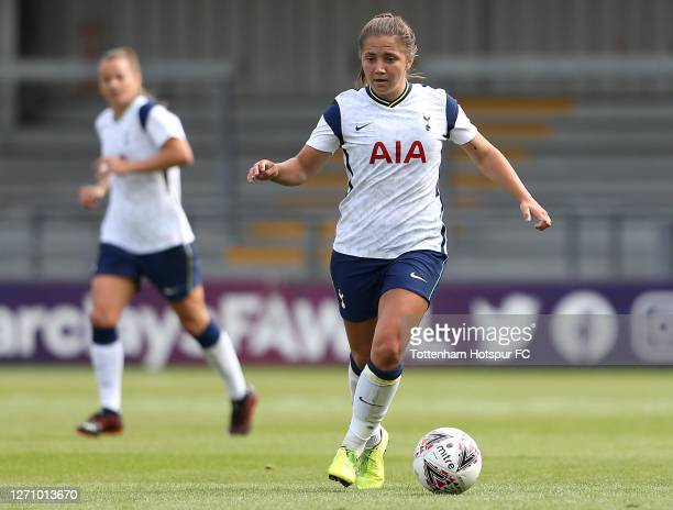 Kit Graham of Tottenham Hotspur during the Barclays FA Women's Super League match between Tottenham Hotspur and West Ham United at The Hive on...