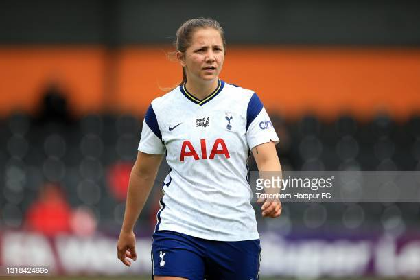 Kit Graham of Tottenham Hotspur during the Vitality Women's FA Cup 5th Round match between Tottenham Hotspur Women and Sheffield United Women at The...