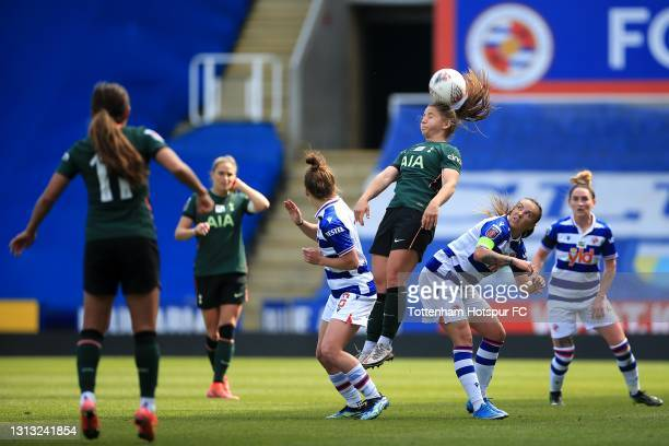 Kit Graham of Tottenham Hotspur during the Vitality Women's FA Cup Fourth Round match between Reading Women and Tottenham Hotspur Women at Madejski...