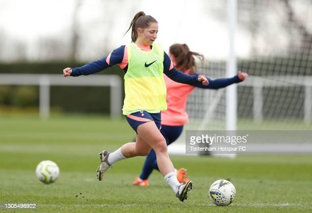 Kit Graham of Tottenham Hotspur Women during the Tottenham Hotspur Women training session at Tottenham Hotspur Training Centre on March 05, 2021 in...