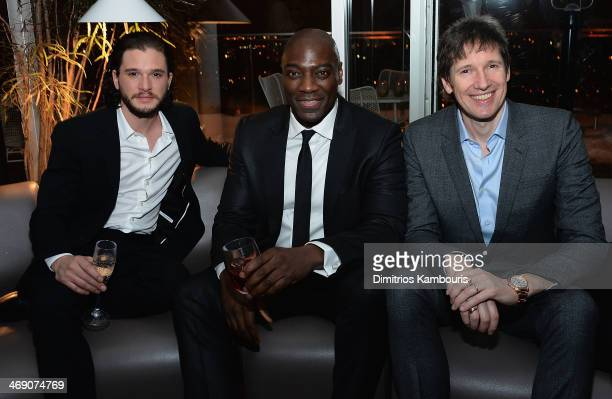 Kit Harington and Adewale Akinnuoye Agbaje and director Paul WS Anderson attend the TriStar Pictures with The Cinema Society Grey Goose screening of...