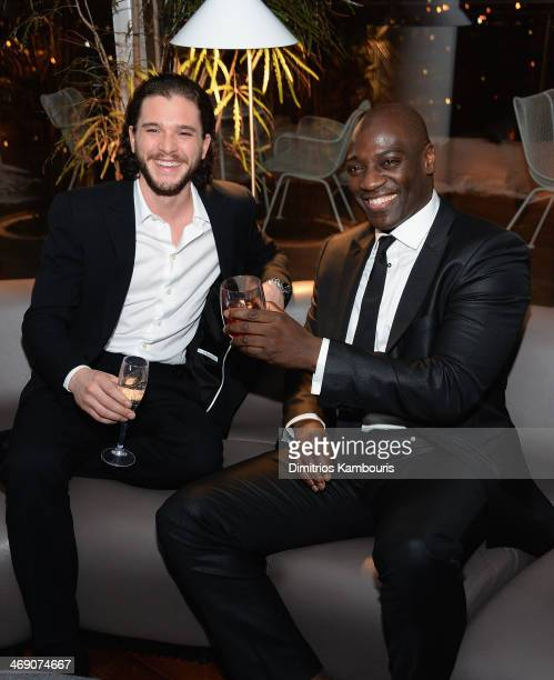 Kit Harington and Adewale Akinnuoye Agbaje attend the TriStar Pictures with The Cinema Society Grey Goose screening of Pompeii after party at The...