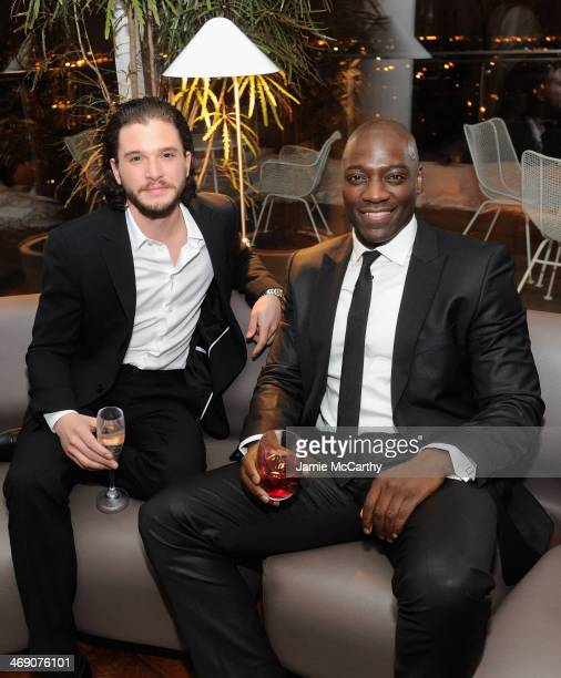 Kit Harington and Adewale AkinnuoyeAgbaje attend the Pompeii screening after party hosted by TriStar Pictures with the Cinema Society and Grey Goose...