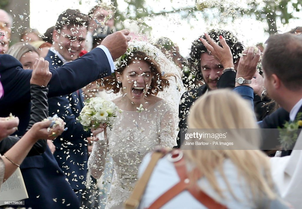 Kit Harington and Rose Leslie wedding : News Photo