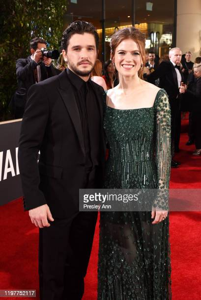 Kit Harington and Rose Leslie attend the 77th Annual Golden Globe Awards sponsored by Icelandic Glacial on January 5, 2020 at the Beverly Hilton in...