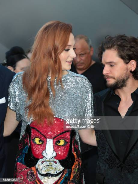 Kit Harington and Sophie Turner are seen on July 12 2017 in Los Angeles California