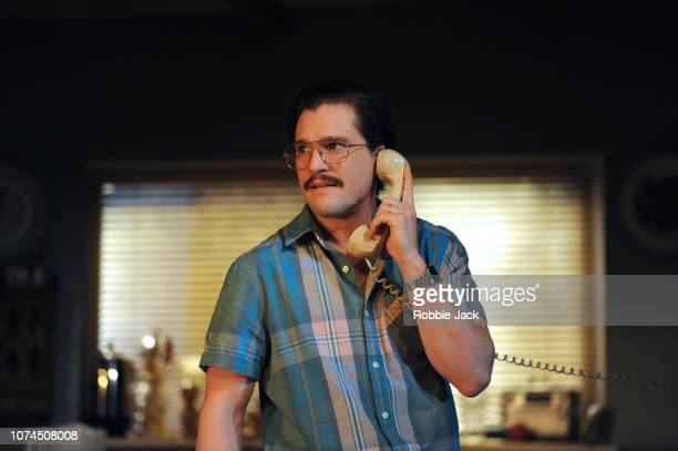 Kit Harington as Austin in Sam Shepard's True West directed by Matthew Dunster at the Vaudeville Theatre on November 29 2018 in London England