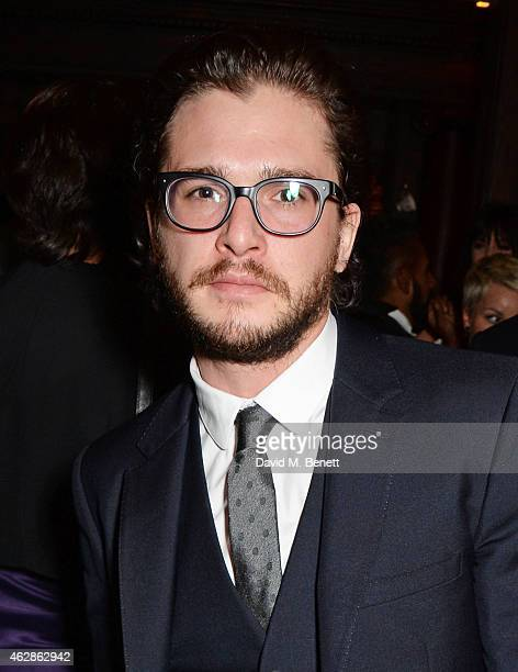 Kit Harington attends Harvey Weinstein's BAFTA Dinner in partnership with Burberry GREY GOOSE at Little House Mayfair on February 6 2015 in London...