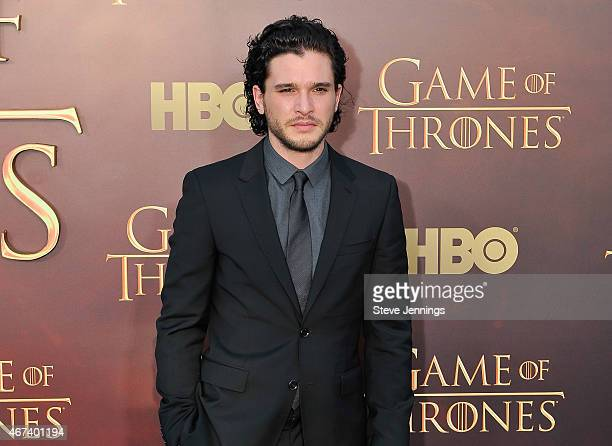 Kit Harington attends HBO's 'Game Of Thrones' Season 5 San Francisco Premiere at San Francisco Opera House on March 23 2015 in San Francisco...