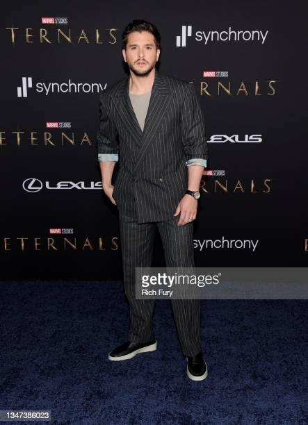 "Kit Harington attends Marvel Studios' ""Eternals"" premiere on October 18, 2021 in Los Angeles, California."