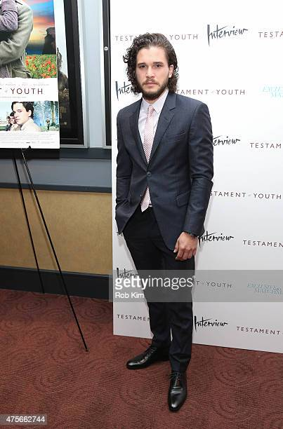 Kit Harington attends 'Testament Of Youth' New York premiere at Chelsea Bow Tie Cinemas on June 2 2015 in New York City