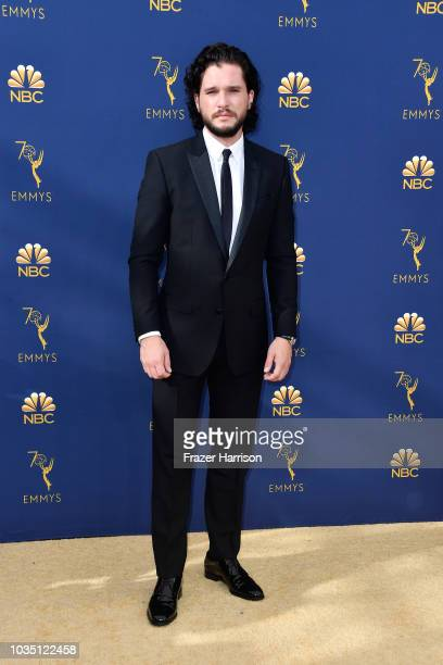 Kit Harington attends the 70th Emmy Awards at Microsoft Theater on September 17 2018 in Los Angeles California