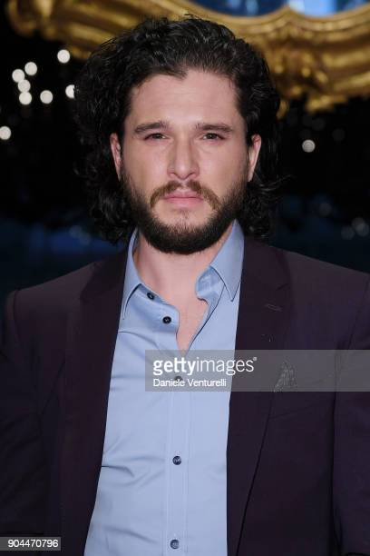 Kit Harington attends the Dolce Gabbana show during Milan Men's Fashion Week Fall/Winter 2018/19 on January 13 2018 in Milan Italy