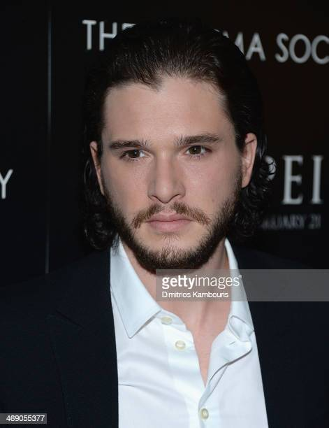 Kit Harington attends the TriStar Pictures with The Cinema Society Grey Goose screening of Pompeii at Crosby Street Hotel on February 12 2014 in New...