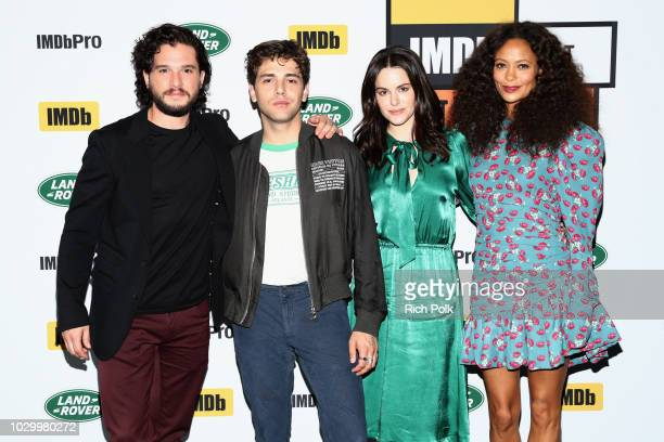 """Kit Harington, director Xavier Dolan, Emily Hampshire and Thandie Newton of """"The Death and Life of John F. Donovan"""" attends The IMDb Studio presented..."""