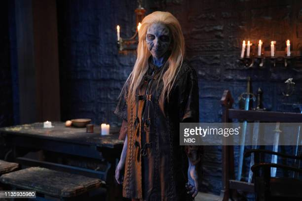 """Kit Harington"""" Episode 1763 -- Pictured: Heidi Gardner as a White Walker during the """"New HBO Shows"""" sketch on Saturday, April 6, 2019 --"""