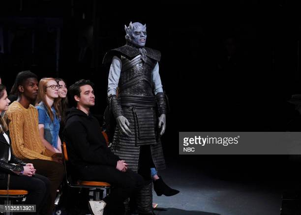 LIVE Kit Harington Episode 1763 Pictured Pete Davidson as The Night King during the Monologue in Studio 8H on Saturday April 6 2019