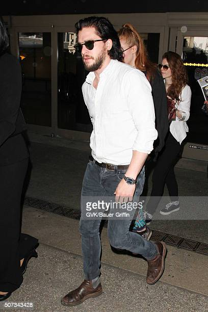 Kit Harington is seen at LAX on January 28 2016 in Los Angeles California