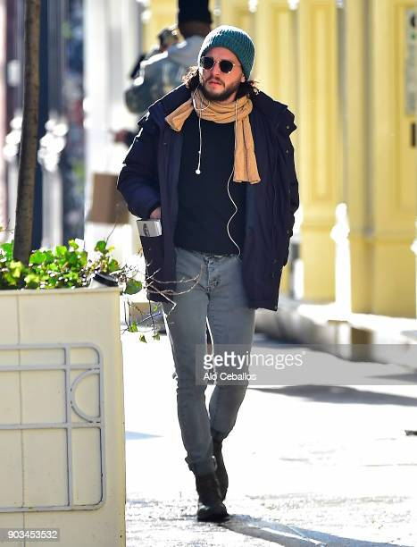Kit Harington is seen shopping in Soho January 9 2018 in New York City