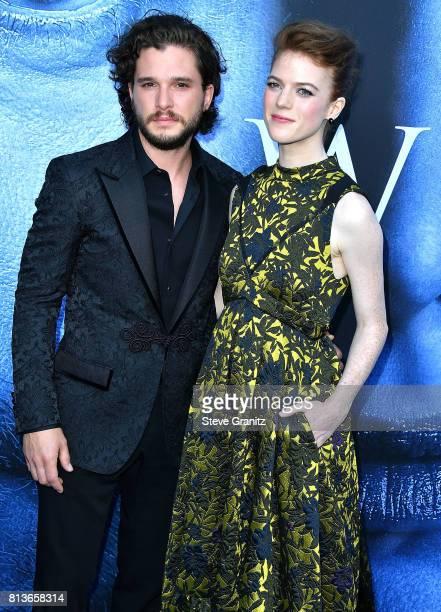 Kit Harington Rose Leslie arrives at the Premiere Of HBO's 'Game Of Thrones' Season 7 at Walt Disney Concert Hall on July 12 2017 in Los Angeles...