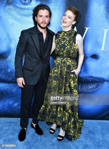 Kit Harington Rose Leslie arrives at the Premiere Of HBO's Game Of Thrones Season 7 at Walt Disney Concert Hall on July 12 2017 in Los Angeles...