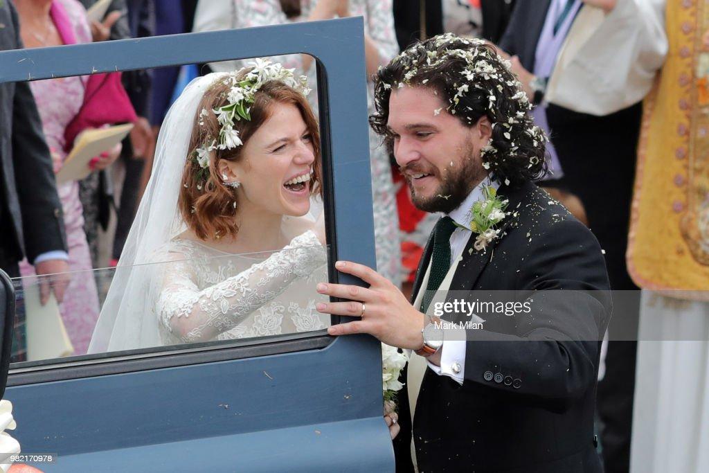 Kit Harington and Rose Leslie Wedding Sightings : News Photo