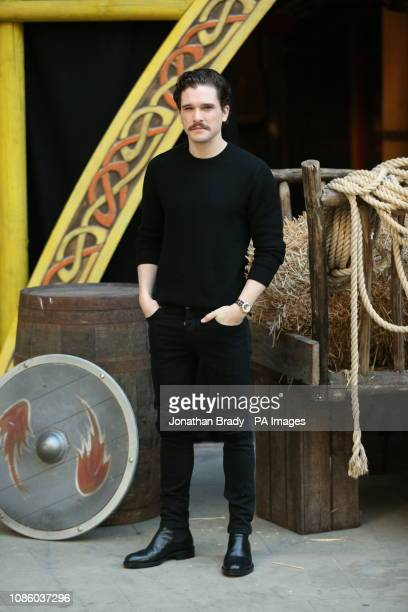 Kit Harrington at a photo call for How to Train Your Dragon The Hidden World at Collins' Music Hall Islington Green London