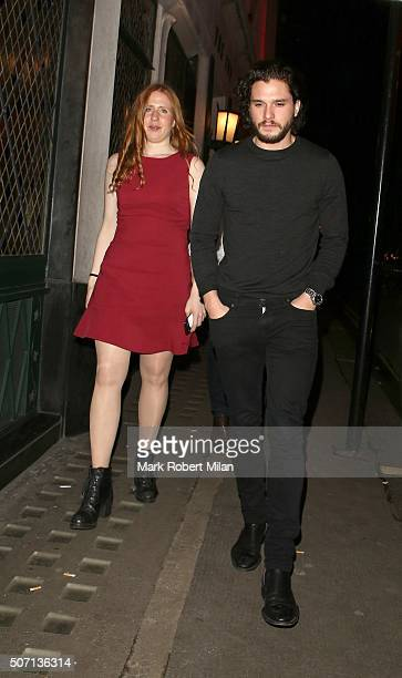 Kit Harrington at the Ivy restaurant on January 27 2016 in London England