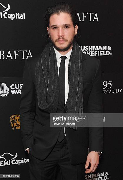 Kit Harrington attends the inaugural BAFTA Film Gala Dinner raising funds for the 'Give Something Back' campaign at BAFTA on February 5 2015 in...